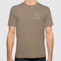 East & West Tri-Coffee Mens Fitted Tee MEDIUM