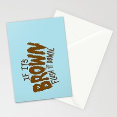 If it's Brown flush it down. Stationery Cards