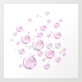 Pretty Pink Bubbles Art Print