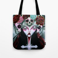 coven Tote Bags featuring Coven by Kao Lee Thao @InnerSwirl.com