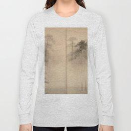 Hasegawa Tohaku - Pine Trees Six-Fold Japanese Screen Long Sleeve T-shirt