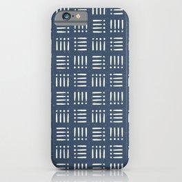 Mudcloth | Classic Blue iPhone Case