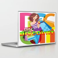 discount Laptop & iPad Skins featuring Creative Title : DISCOUNT by Don Kuing