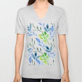 watercolor floral pattern Unisex V-Neck