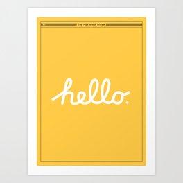 Hello: The Macintosh Office (Yellow) Art Print