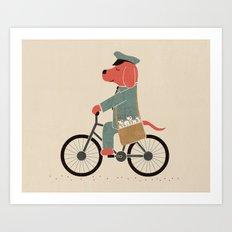 Postdog Art Print