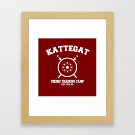 Kattegat - Viking training camp Framed Art Print