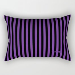 Halloween Stripes Purple and Black Rectangular Pillow