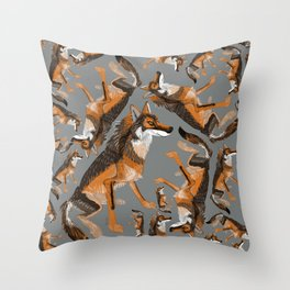 Totem Iberian wolf Throw Pillow