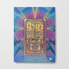 The Myster of King Pakal's Sarcophagus Metal Print