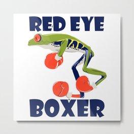 Red Eye Tree Frog Boxer Metal Print