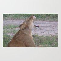 simba Area & Throw Rugs featuring Sleepy Simba by Fer Ruz