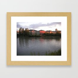 Gone Fishin', Alaskan Style Framed Art Print
