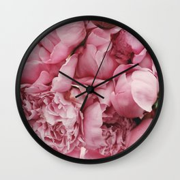 Pink Floral Photography Wall Clock