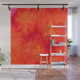 Sunset Blush Red Wall Mural