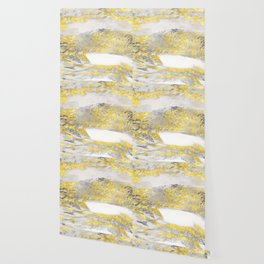 Silver and Gold Marble Design Wallpaper