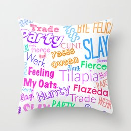 The Gay Thought Bubble Throw Pillow
