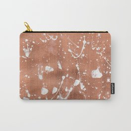 Rose Gold and White Carry-All Pouch