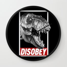 Jurassic Park T Rex Disobey  Wall Clock