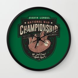 National Nap Championship Wall Clock