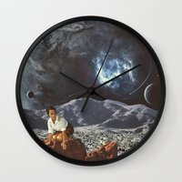 """alone Wall Clocks featuring """"Alone"""" by TRASH RIOT"""