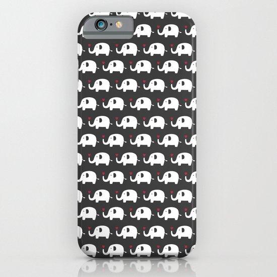 Elephants in love iPhone & iPod Case
