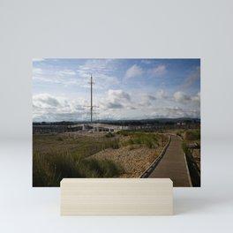View Towards Pont y Ddraig Harbour Bridge Mini Art Print