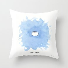 Stay calm Throw Pillow