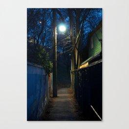 Path by streetlight Canvas Print