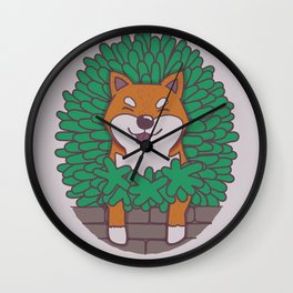 Just hangin' out here.. (Inu Series) Wall Clock