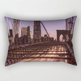 Brooklyn Bridge By Night Rectangular Pillow