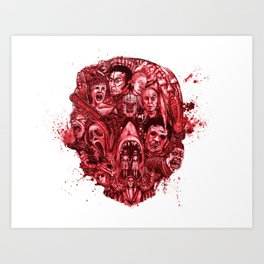 The Essence of Horror [Red] Art Print