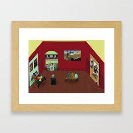 Museum Cats Framed Art Print