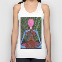 yoga Tank Tops featuring yoga by mawilda