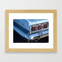 Blue '63 Chevy Impala Framed Art Print