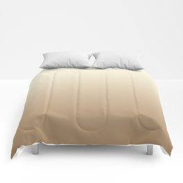 Vanilla / Ice Coffee Gradient Colors Comforters