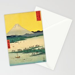 12,000pixel-500dpi - Utagawa Hiroshige - 36 Views of Mt.Fuji - Suruga Mihonomatsubara Stationery Cards