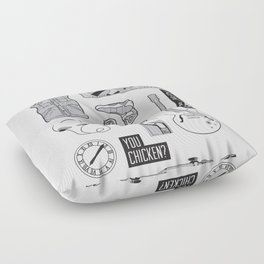 McFly Icons - Back to the Future Floor Pillow