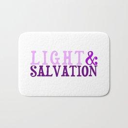 Christian Bible Scripture LIGHT AND SALVATION Bath Mat