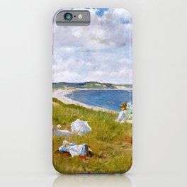 William Merritt Chase - Idle Hours - Digital Remastered Edition iPhone Case