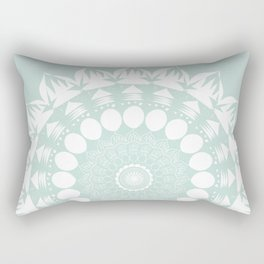 Baby Blue Mandala Rectangular Pillow