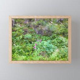 Mountain wildflowers Framed Mini Art Print