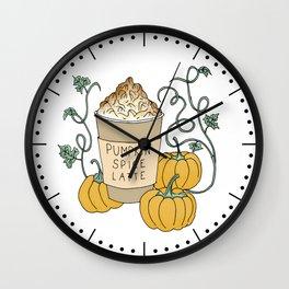 Pumpkin Spice Latte Drink Wall Clock