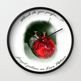 LovePotion or ForgetPotion  Wall Clock