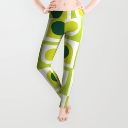 Geometric Pattern #210 (lime green) Leggings