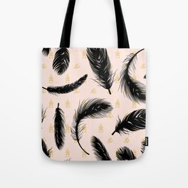 Black feathers Tote Bag