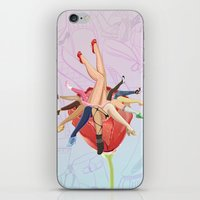shoe iPhone & iPod Skins featuring Shoe Love by Wendy Ding: Illustration