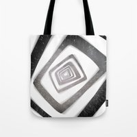 persona 4 Tote Bags featuring Into the TV (Persona 4) by ASHPLUS