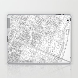 Abstract Map of New York City Manhattan Lower East Side Laptop & iPad Skin