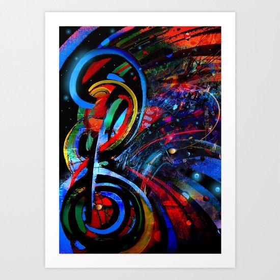 Music Staff Art Print